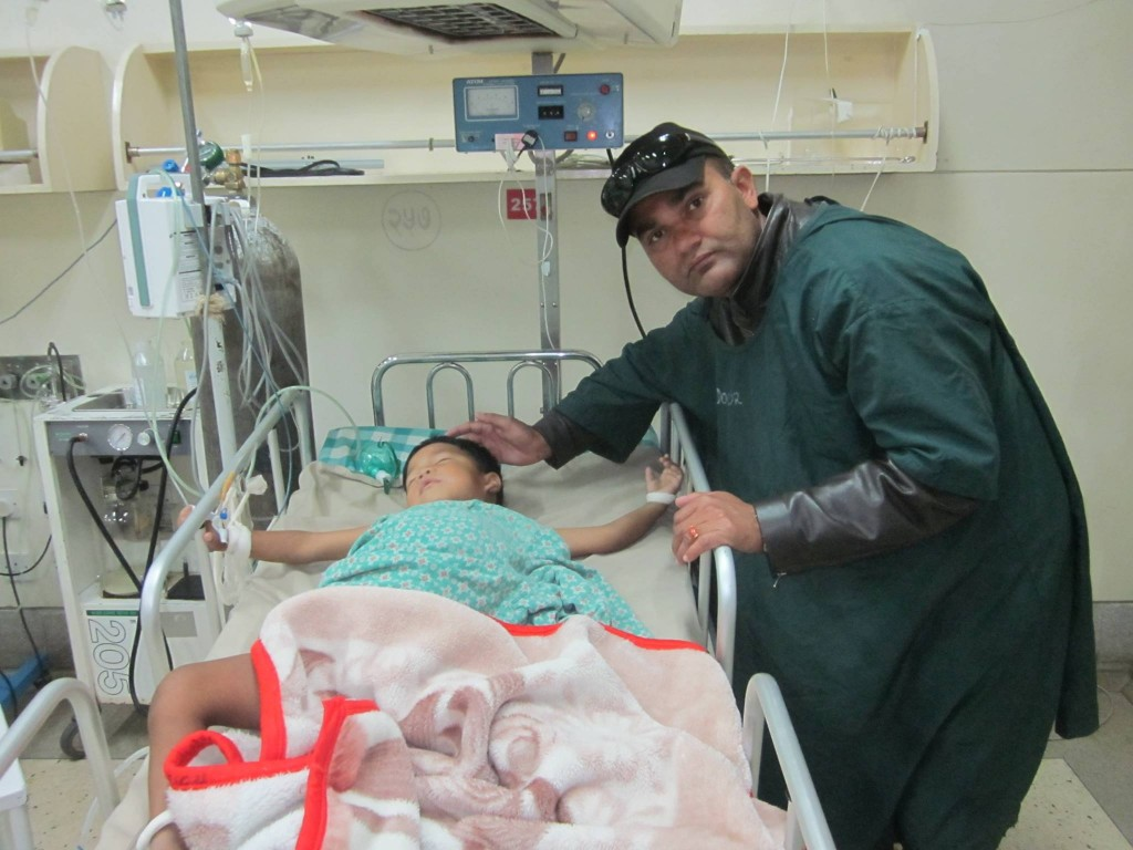 SVPI volunteers funded a surgery for a young Nepalese boy.