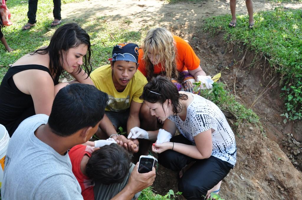 SVPI nursing student volunteer in Nepal.